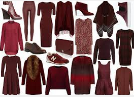 Marsala clothes and shoes