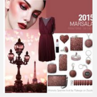 Marsala coloured earrings