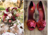Marsala flowers and shoes